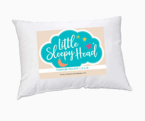 1. Little Sleepy Head Toddler Pillow