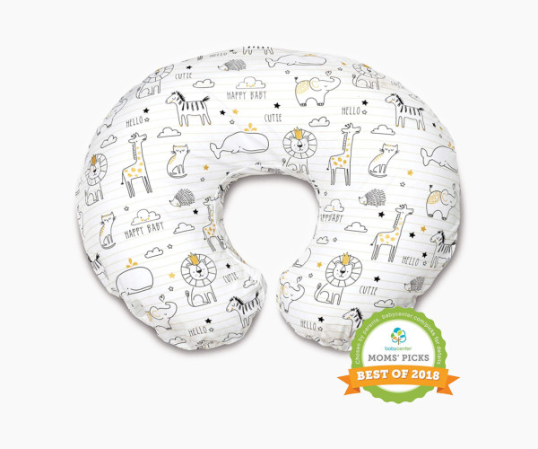 1. Boppy Nursing Pillow and Positioner, Notebook Black/Gold