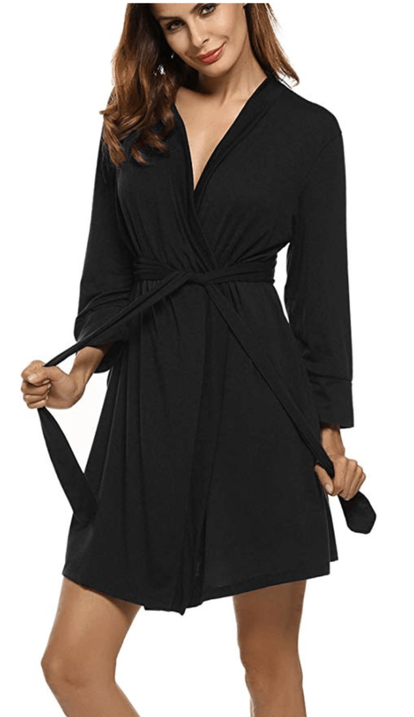 10. HOTOUCH WOMEN SOFT COTTON BATHROBE