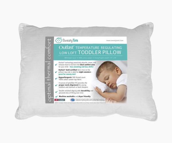 3. Sweaty Tots Toddler Pillow