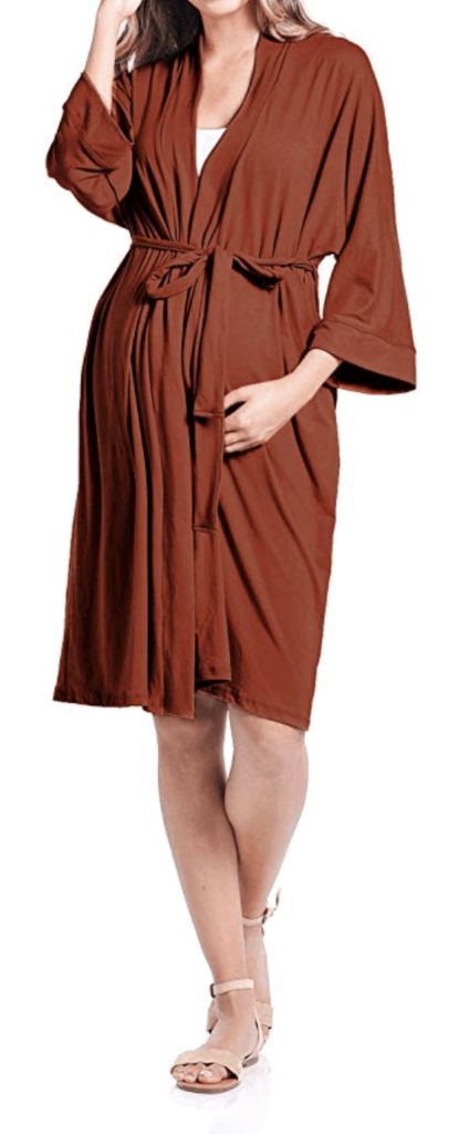 5. BEACH COCO MATERNITY WOMEN'S ROBE DELIVERY/NURSING, MADE IN USA