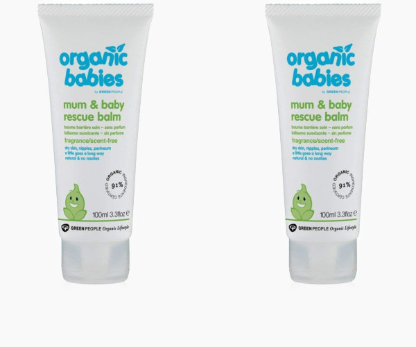 6. Green People Organic Babies Mum & Baby Rescue Balm - Scent Free (100ml)