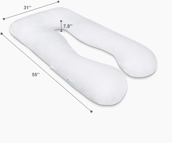 2. Meiz Premium U-Shape Pregnancy Pillow