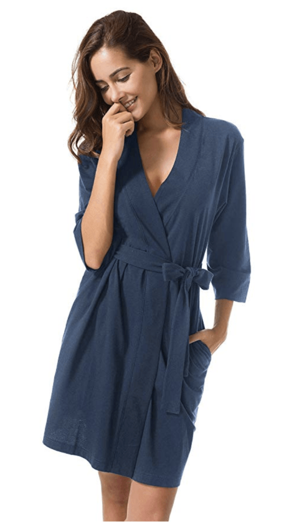 8. SIORO WOMENS COTTON ROBE